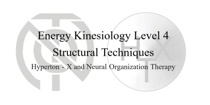 Энергетическая коррекционная кинезиология. Часть 4 «Структурные техники»